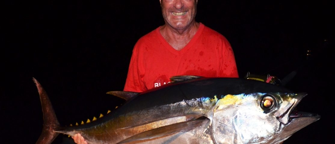 Thon obèse ou Thunnus obesus - Rod Fishing Club - Ile Rodrigues - Maurice - Océan Indien