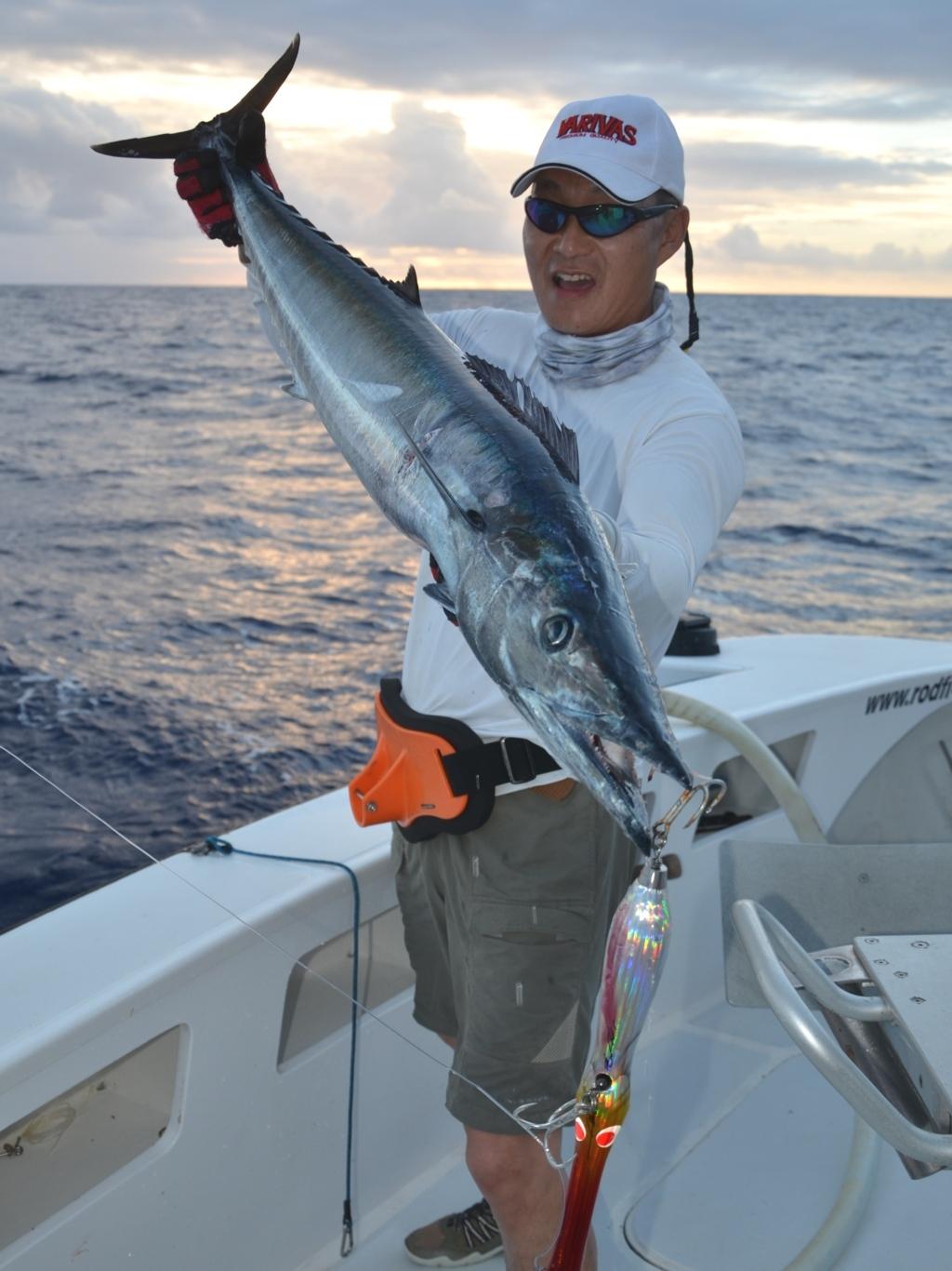 Wahoo pris au popper - Rod Fishing Club - Ile Rodrigues - Maurice - Océan Indien