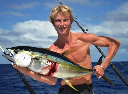 Yellowfin tuna - Rod Fishing Club - Rodrigues Island - Mauritius - Indian Ocean