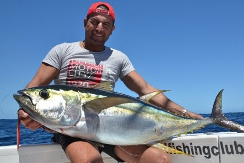 Yellowfin tuna caught on jigging - Rod Fishing Club - Rodrigues Island - Mauritius - Indian Ocean