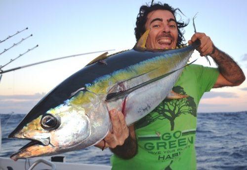 Yellowfin tuna for Pedro - Rod Fishing Club - Rodrigues Island - Mauritius - Indian Ocean