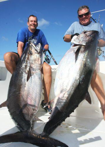 doggies de 78kg pour Bruno et 73kg pour Alex - Rod Fishing Club - Ile Rodrigues - Maurice - Océan Indien