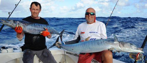double wahoos on trolling - Rod Fishing Club - Rodrigues Island - Mauritius - Indian Ocean