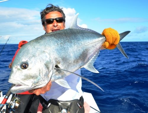 giant trevally released- Rod Fishing Club - Rodrigues Island - Mauritius - Indian Ocean