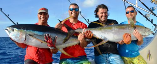 nice yellowfin tuna - Rod Fishing Club - Rodrigues Island - Mauritius - Indian Ocean
