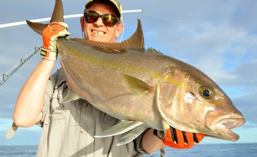seriola on jigging by Philippe - Rod Fishing Club - Rodrigues Island - Mauritius - Indian Ocean