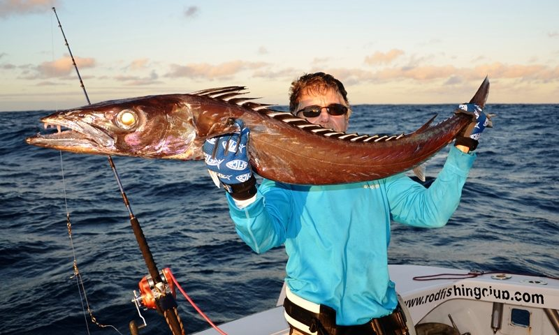 the famous black snoek - Rod Fishing Club - Rodrigues Island - Mauritius - Indian Ocean