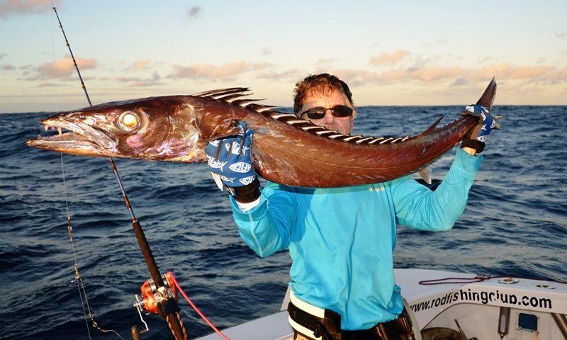 the famous black snoek - Rod Fishing Club - Rodrigues Island - Mauritius - Indian Ocean