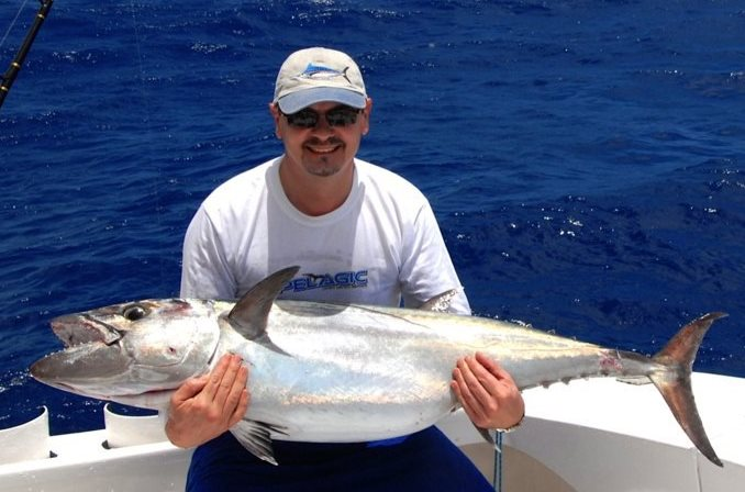 thon à dents de chien de 26kg - Rod Fishing Club - Ile Rodrigues - Maurice - Océan Indien