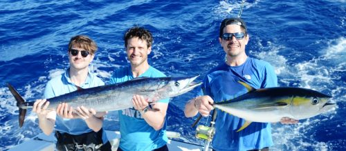 wahoo and yellowfin tuna - Rod Fishing Club - Rodrigues Island - Mauritius - Indian Ocean
