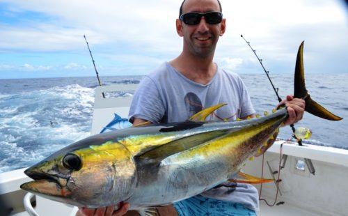 yellow fin tuna 16kg - Rod Fishing Club - Rodrigues Island - Mauritius - Indian Ocean