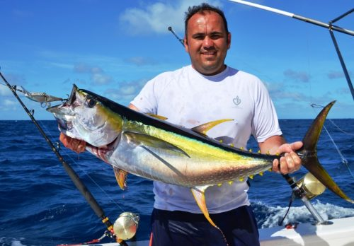 yellowfin tuna caught on rapala - Rod Fishing Club - Rodrigues Island - Mauritius - Indian Ocean