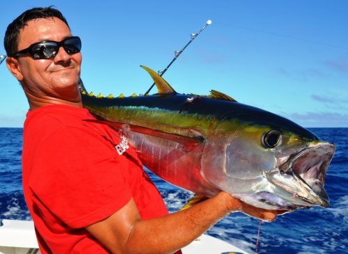 yellowfin tuna for Olivier - Rod Fishing Club - Rodrigues Island - Mauritius - Indian Ocean