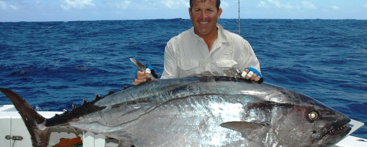 104.5kg dogtooth tuna world record all tackle on jigging - 25 10 2007