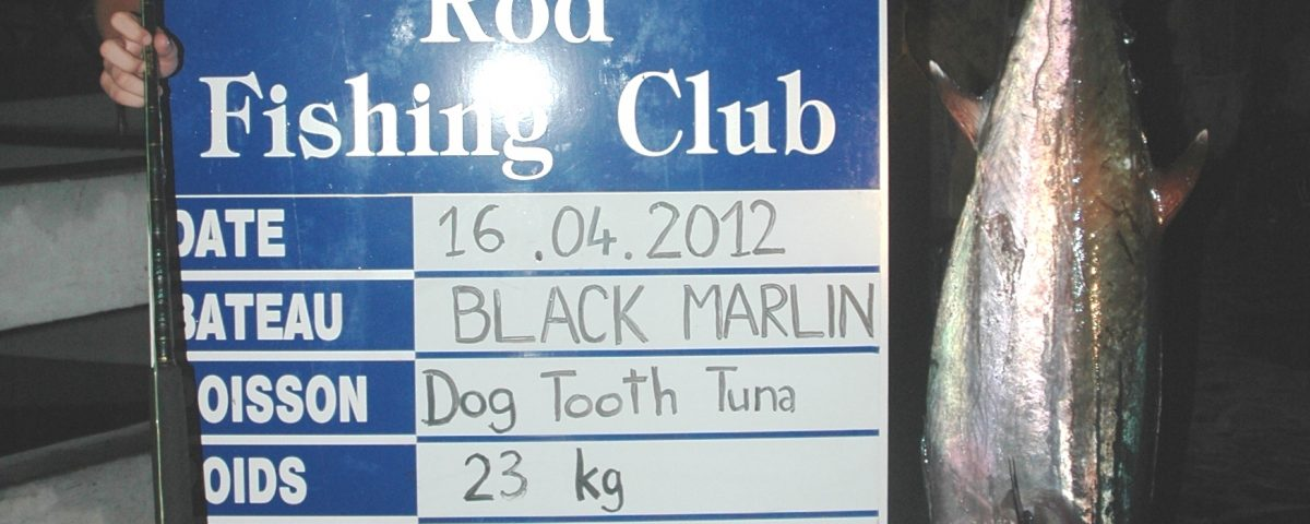 23kg dogtooth tuna feminine junior world record on baiting - 16 04 2012