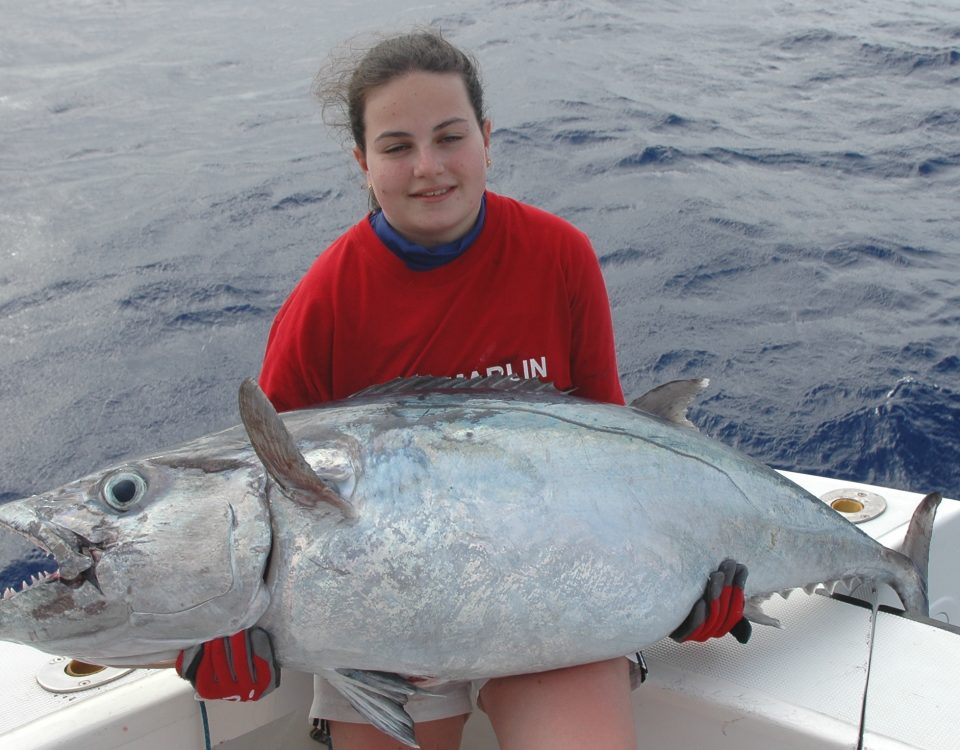 28.5kg dogtooth tuna feminine junior world record on baiting - 11 03 2013