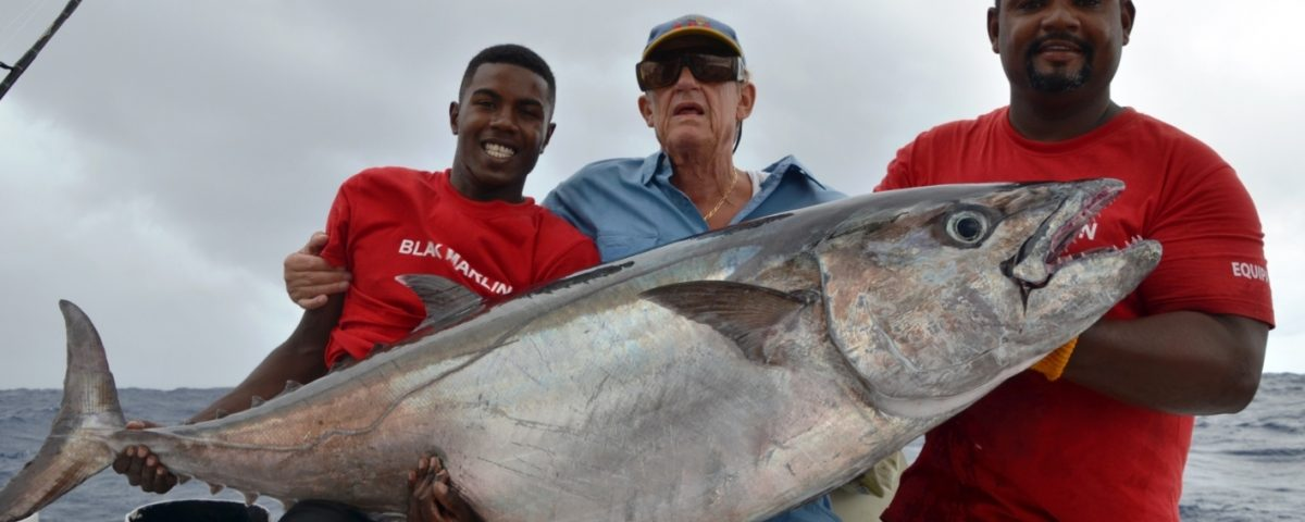 55.5kg doggy for our seniorJ.P. ! - Rod Fishing Club - Rodrigues Island - Mauritius - Indian Ocean