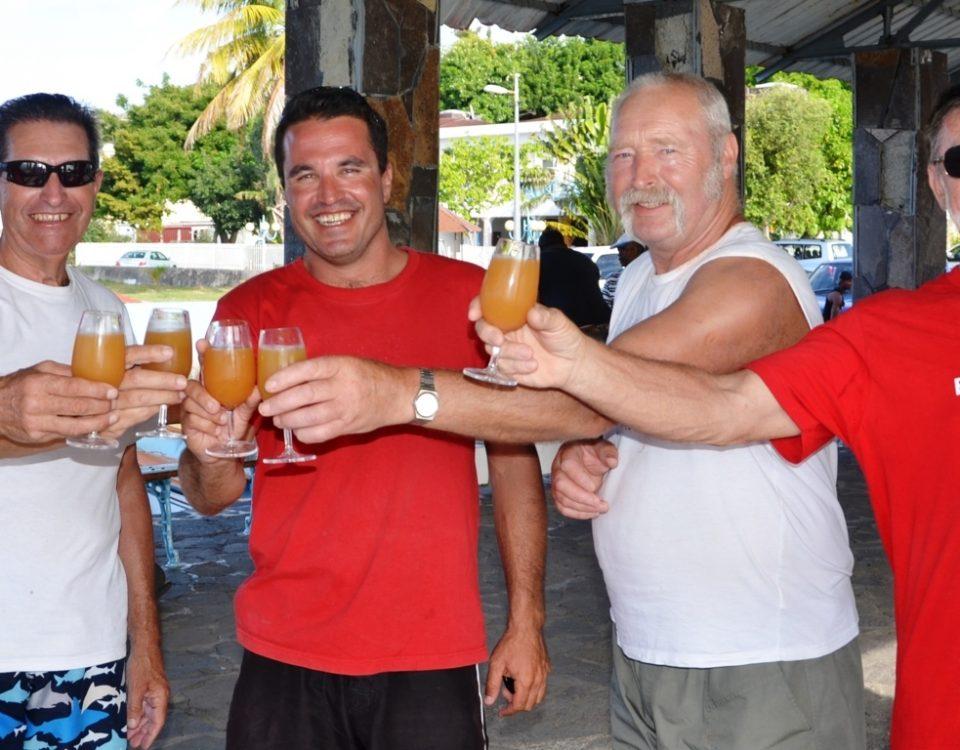 Cocktail important après la pêche - Rod Fishing Club - Ile Rodrigues - Maurice - Océan Indien