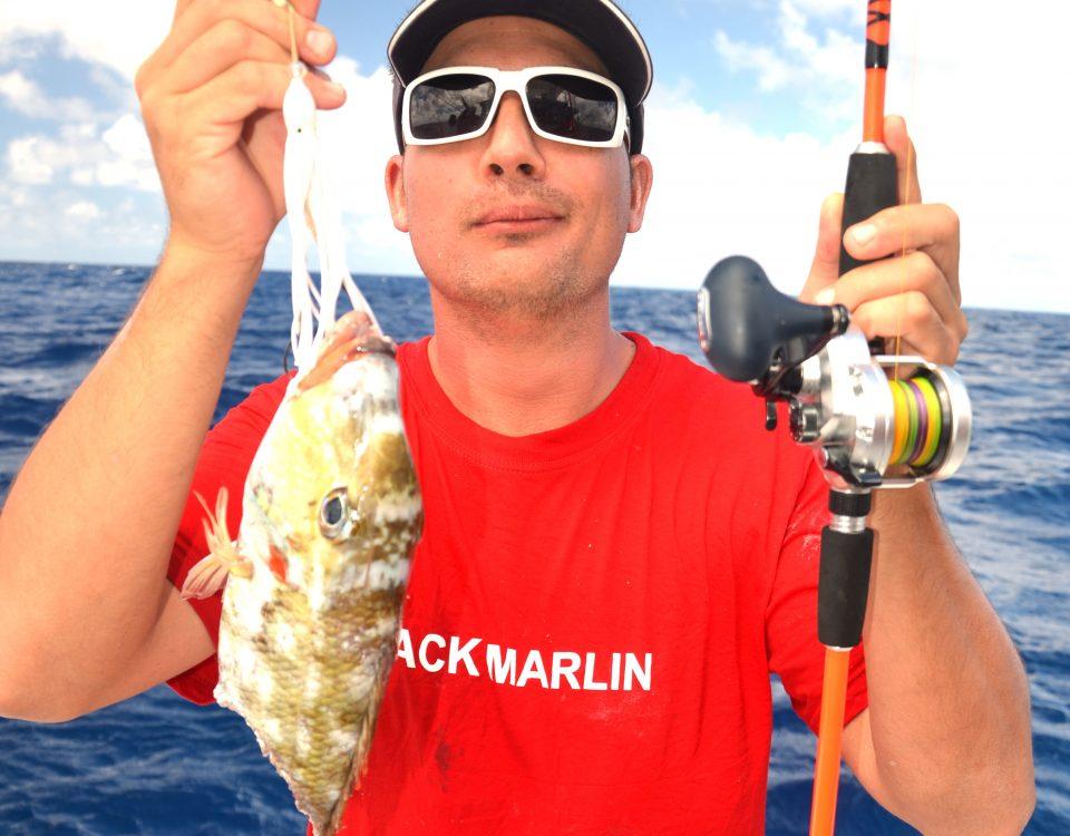 Cutting bait for Pierre - Rod Fishing Club - Rodrigues Island - Mauritius - Indian Ocean
