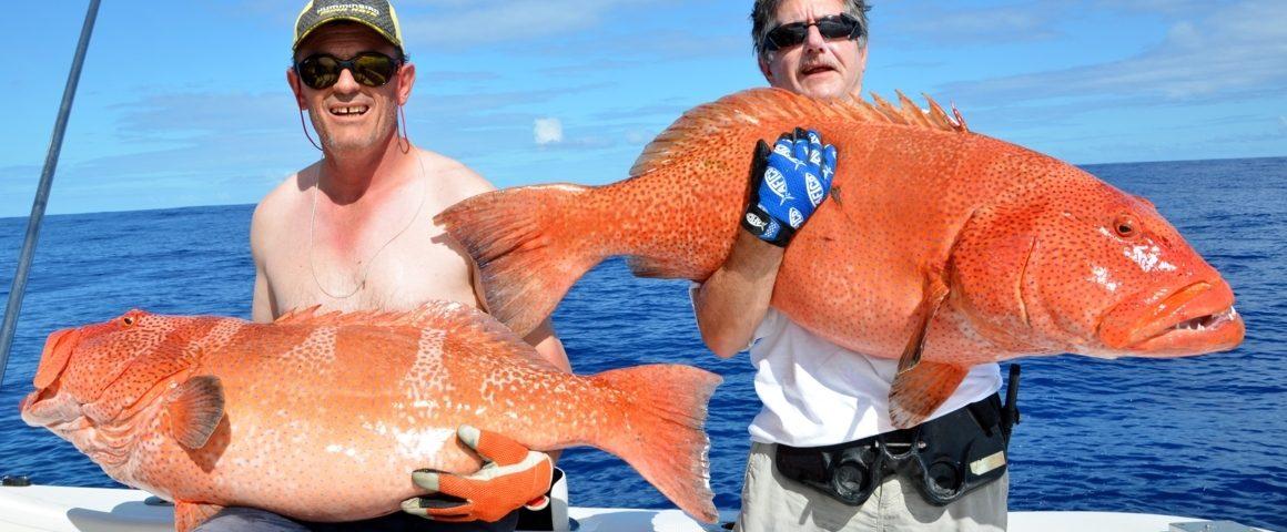 Doublé de grosses babones - Rod Fishing Club - Ile Rodrigues - Maurice - Océan Indien
