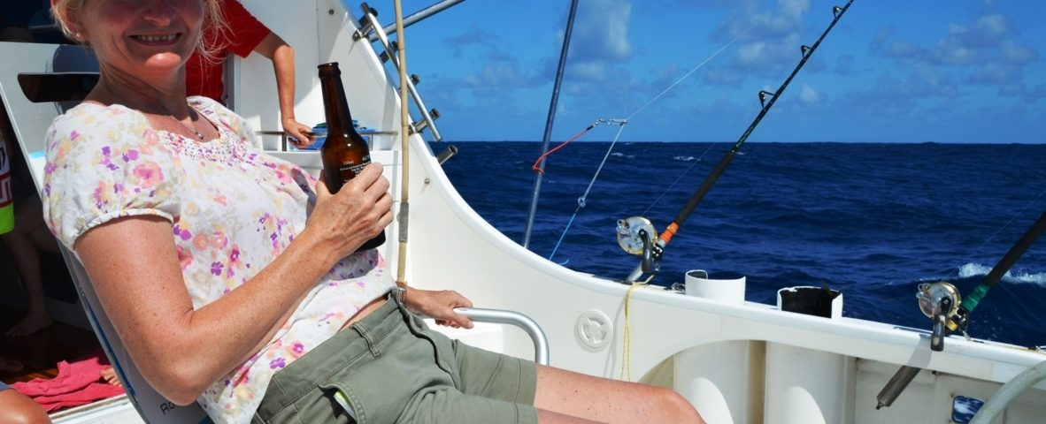 Good time for Lady also - Rod Fishing Club - Rodrigues Island - Mauritius - Indian Ocean