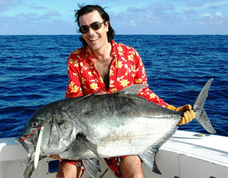 Pedro and his big GT on jigging - Rod Fishing Club - Rodrigues Island - Mauritius - Indian Ocean