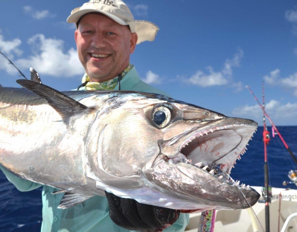 Thon à dents de chien en pêche au jig pour Igor - Rod Fishing Club - Ile Rodrigues - Maurice - Océan Indien