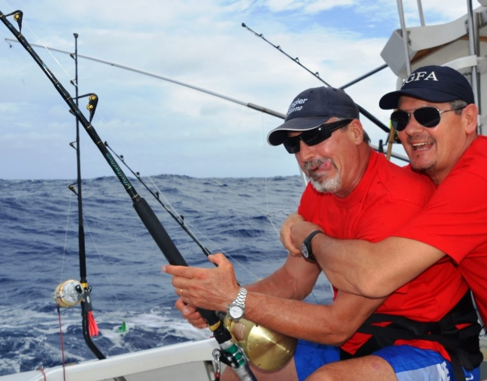 Viva Italia on the fighting chair - Rod Fishing Club - Rodrigues Island - Mauritius - Indian Ocean