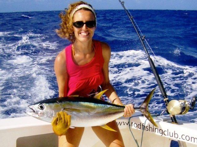 Yellowfin tuna for Renone on trolling - Rod Fishing Club - Rodrigues Island - Mauritius - Indian Ocean