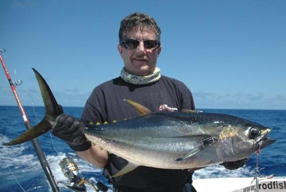 thon jaune en pêche au jig - Rod Fishing Club - Ile Rodrigues - Maurice - Océan Indien