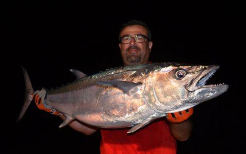 Beau thon a dents de chien pris en jigging par Malik - www.rodfishingclub.com - Ile Rodrigues - Maurice - Océan Indien