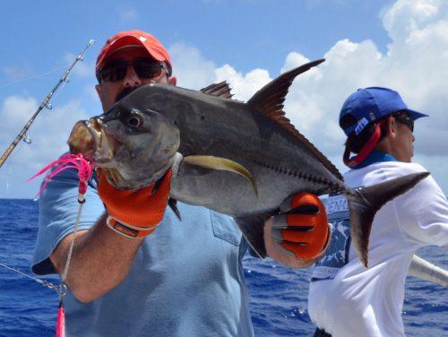 Carangue lugubris prise en jigging par Malik - www.rodfishingclub.com - Ile Rodrigues - Maurice - Océan Indien
