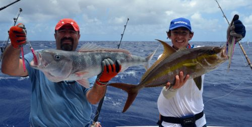 Jobfish and seriola caught on jigging - www.rodfishingclub.com - Rodrigues Island - Mauritius - Indian Ocean