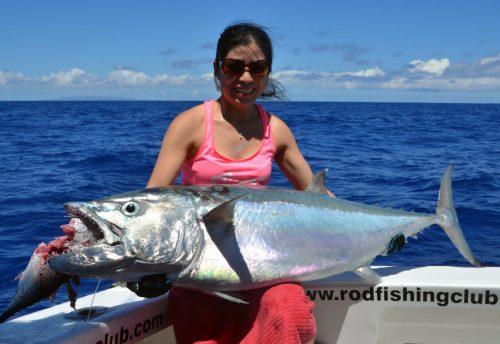 Doggy de 40kg en pêche a l'appât - www.rodfishingclub.com - Ile Rodrigues - Maurice - Océan Indien
