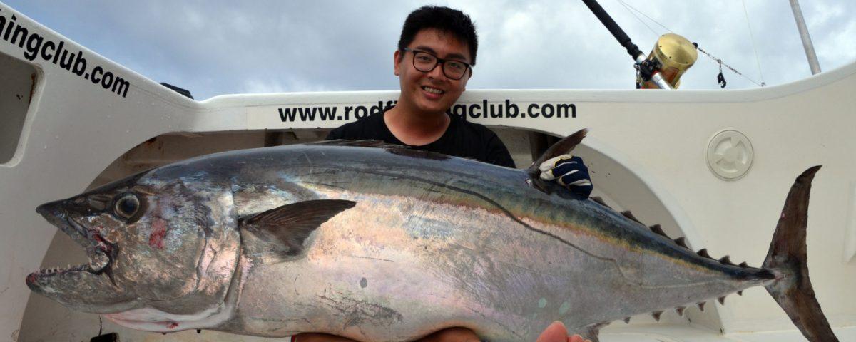 Doggy de 66kg en pêche a l'appât par Fred - www.rodfishingclub.com - Ile Rodrigues - Maurice - Océan Indien