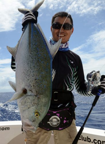 Bluefin trevally for Kevin on jigging - www.rodfishingclub.com - Rodrigues Island - Mauritius - Indian Ocean