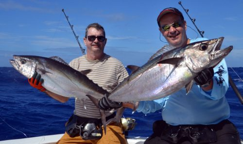 Doggies caught by Bertrand and Bruno on jigging - www.rodfishingclub.com - Rodrigues Island - Mauritius - Indian Ocean