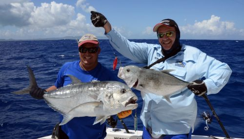 GTs caught by Fred and Bruno on jigging before releasing - www.rodfishingclub.com - Rodrigues Island - Mauritius - Indian Ocean