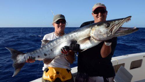 Magnifique barracuda par Fred en pêche au jig - www.rodfishingclub.com - Ile Rodrigues - Maurice - Océan Indien