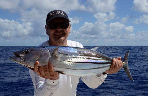 Thon skipjack pris en pêche a la traine par Gianni - www.rodfishingclub.com - Ile Rodrigues - Maurice - Océan Indien