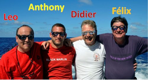 L'équipe Eyes of Marlin avec ses lunettes anti-mal de mer -www.rodfishingclub.com - Ile Rodrigues - Maurice - Océan Indien
