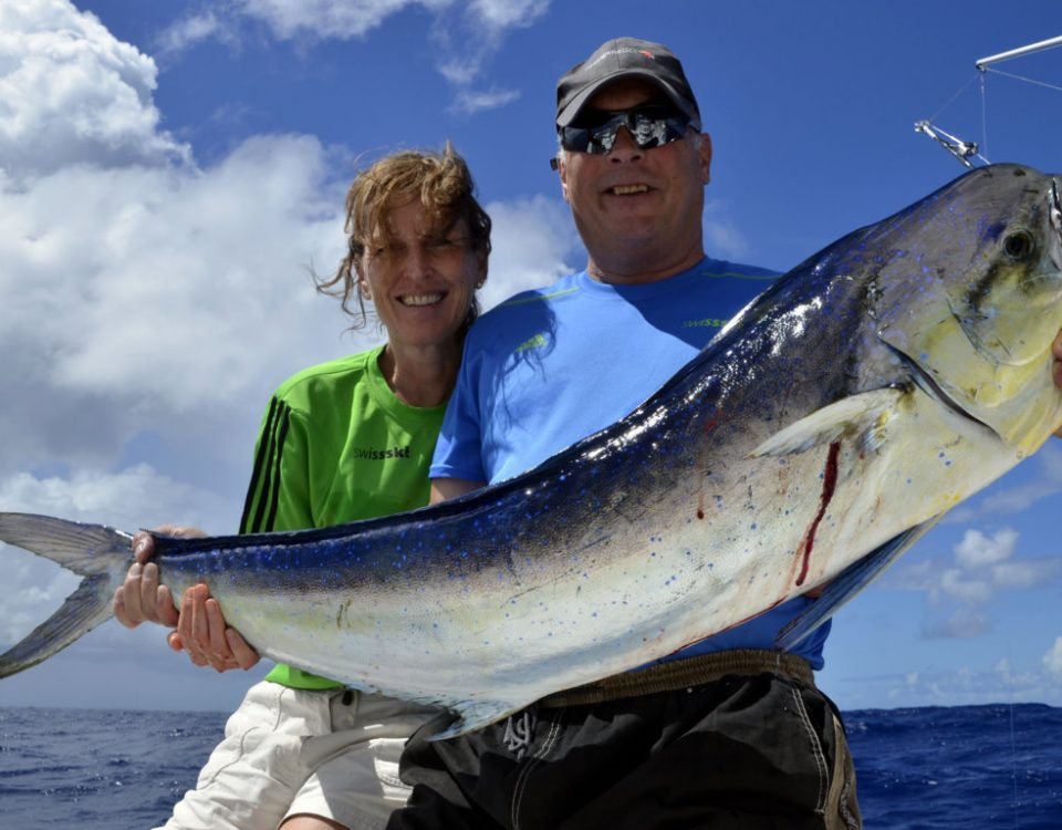 Nice dorado for the Bull Team - www.rodfishingclub.com - Rodrigues Island - Mauritius - Indian Ocean