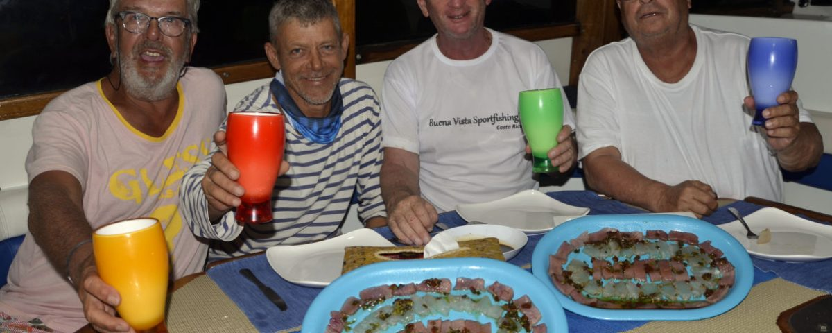 The Sharky Team at dinner - www.rodfishingclub.com - Rodrigues Island - Mauritius - Indian Ocean