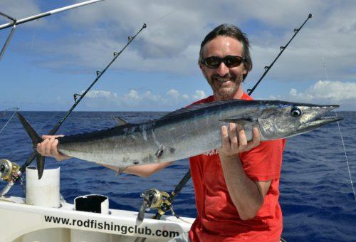 Wahoo pris en pêche a la traîne par Eric - www.rodfishingclub.com - Ile Rodrigues - Maurice - Océan Indien