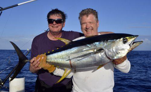 Yellowfin tuna on trolling - www.rodfishingclub.com - Rodrigues Island - Mauritius - Indian Ocean