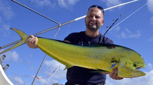 Dorade en pêche a la traîne par Marcin - www.rodfishingclub.com - Ile Rodrigues - Maurice - Océan Indien