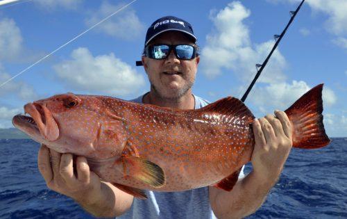 Mérou babone pris en pêche au jig par Lance - www.rodfishingclub.com - Ile Rodrigues - Maurice - Océan Indien