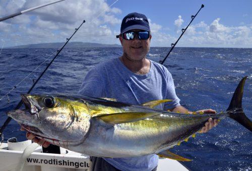 Thon jaune en pêche a la traîne par Lance - www.rodfishingclub.com - Ile Rodrigues - Maurice - Océan Indien