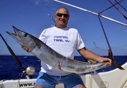 Wahoo pour Cyril en pêche a la traîne - www.rodfishingclub.com - Ile Rodrigues - Maurice -Océan Indien