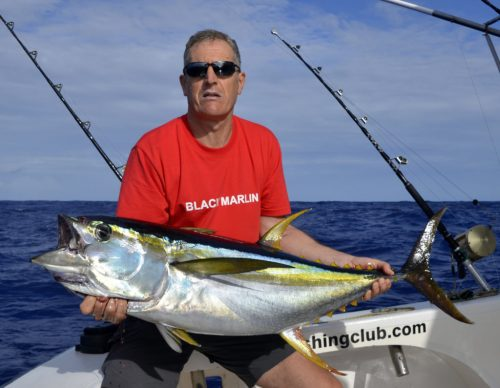Yellowfin tuna for Patrick on trolling - www.rodfishingclub.com - Rodrigues Island - Mauritius - Indian Ocean